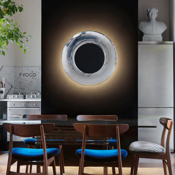 Lunaire Wandleuchte von FontanaArte in schwarz/weiß LED