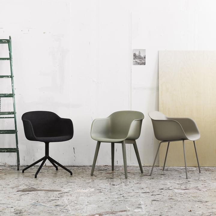 Recycelbarer Fiber Chair von Muuto