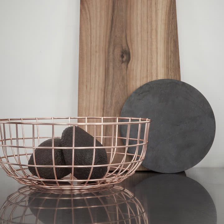 Menu - Norm Wire Bowl, Kupfer