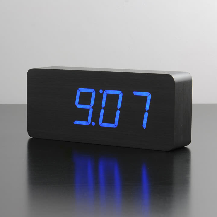 Gingko - Slab, schwarz / LED blau