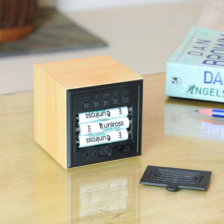 Gingko - Cube, LED violett, Batterien