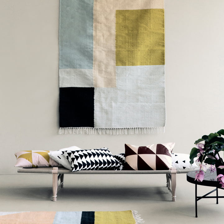 kelim rug squares von ferm living im shop. Black Bedroom Furniture Sets. Home Design Ideas