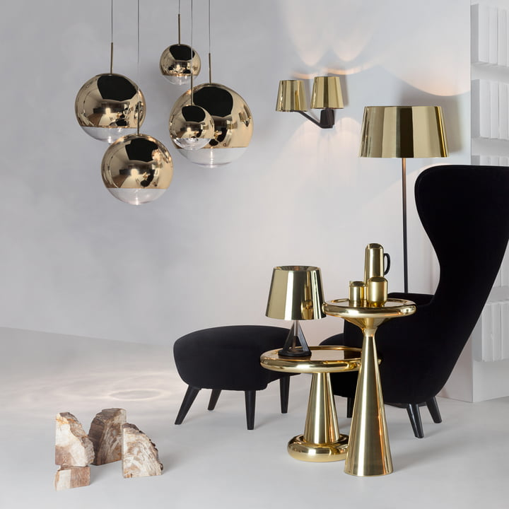 Mirror Ball Gold Pendelleuchte Von Tom Dixon