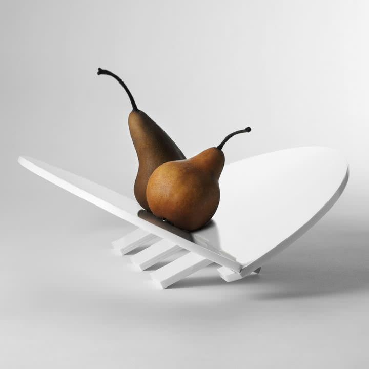 Design House Stockholm - Leaf Tablett, weiß