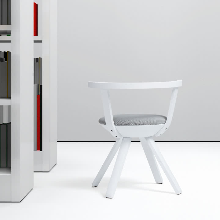 Artek - KG 001 Rival Stuhl niedrig weiß, weiß, schwarz / weiß