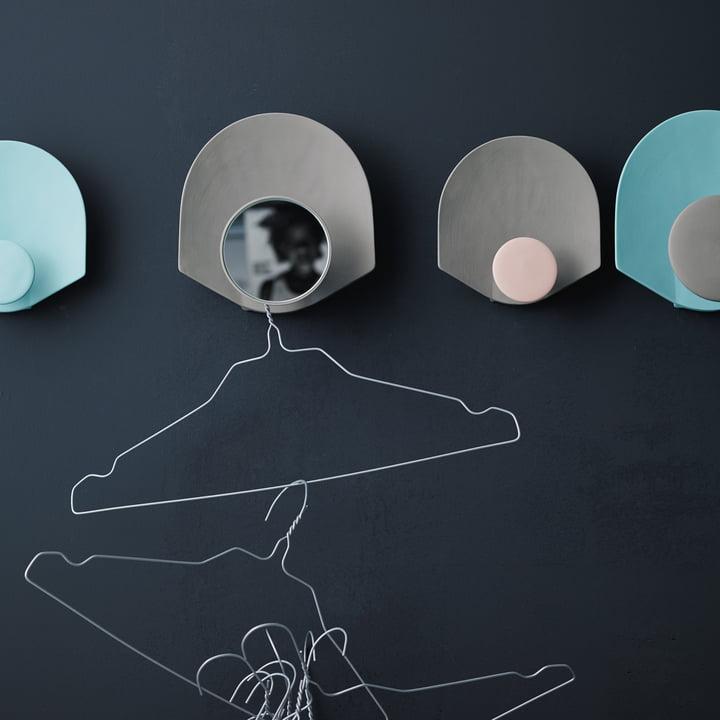 Design-Garderobe in trendigen Pastelltönen