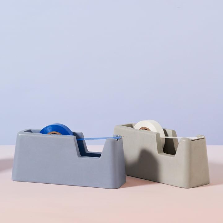 Areaware - Concrete Klebebandabroller klein, blau, grau