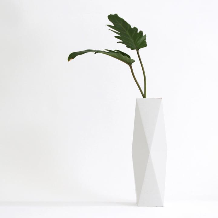 snug.vase high von Snug.studio in weiß