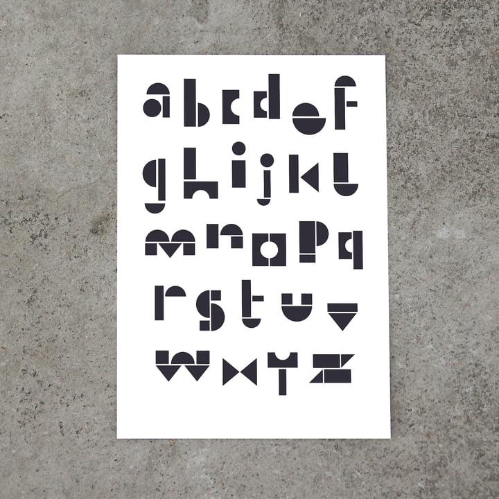 snug.abc Postkarte von Snug.studio in weiß