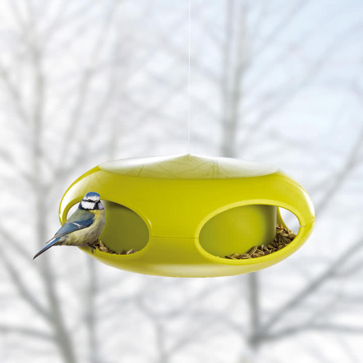 Koziol - [pi:p] Vogelfutterhaus, senf / olivgrün