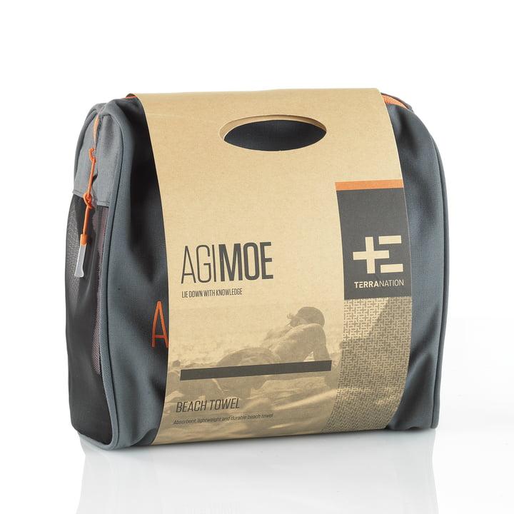 Strandhandtuch kommt mit einer eigenen Transporttasche
