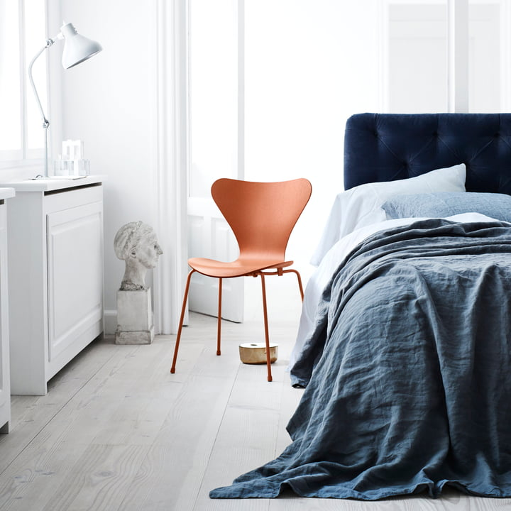 Fritz Hansen - Serie 7 Stuhl, Monochrom Chevalier orange