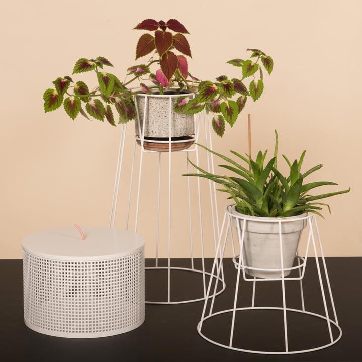 OK Design - Cibele Blumentopfständer, weiß