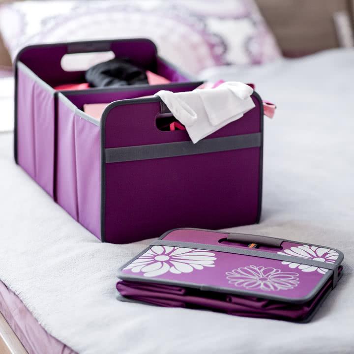 meori - Klassiker Faltbox 30 Liter, Mitternacht magenta