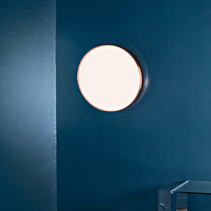Flos - Clara Wand- und Deckenleuchte LED, weiß mit Dekoring Kupfer