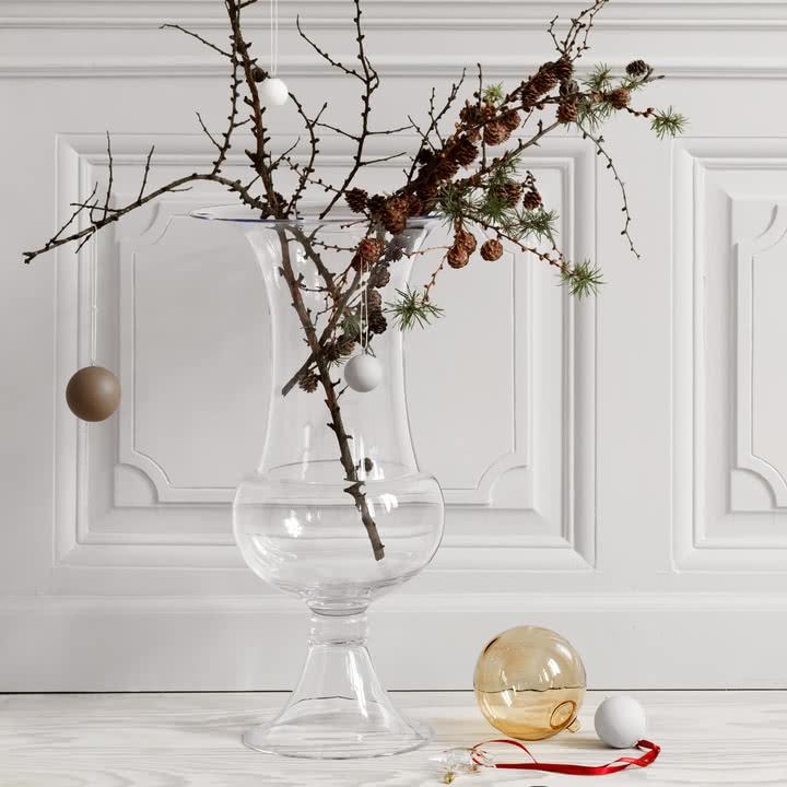 Holmegaard - Old English Bodenvase mit Weihnachtsdekoration