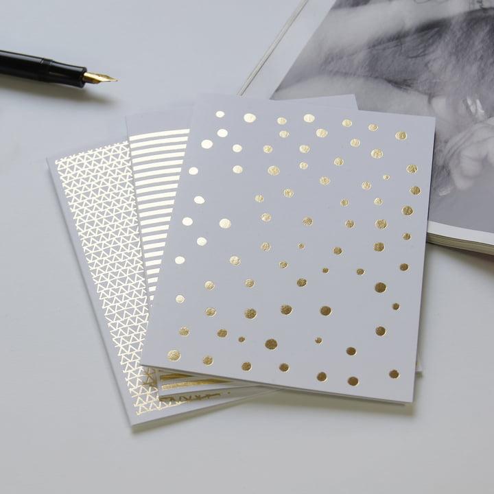 Goldene Grußkarten für Weihnachten & Hochzeiten