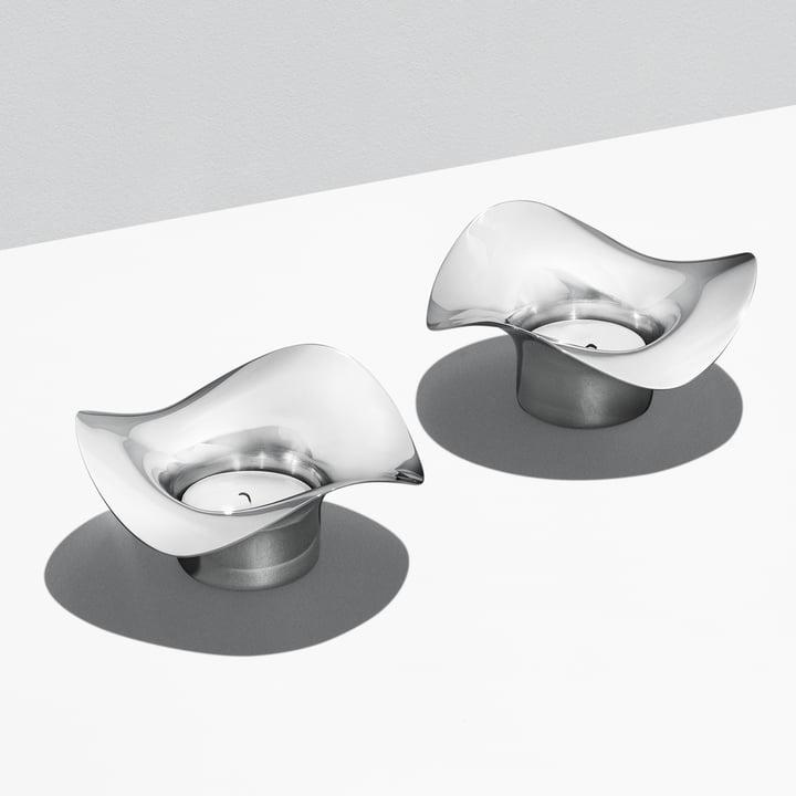 Teelicht-Duo in harmonischer Wellenform