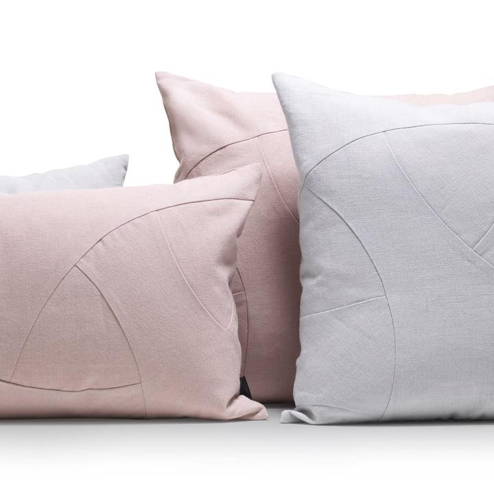 Die by Lassen - Flow Kissen in rosa und grau