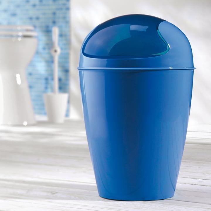 Koziol - DEL Schwingdeckeleimer, blau