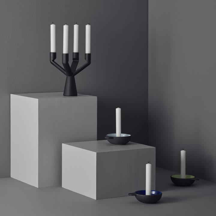 Verschiedene Kerzenhalten von Stelton