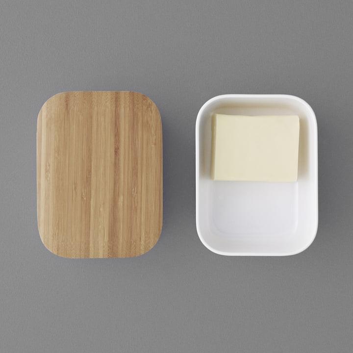 Abgerundete Form für die Butter
