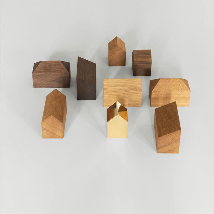 Individuelle Holz-Häuschen zur Deko