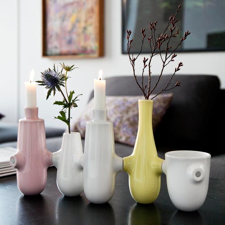 Vase und Kerzenständer in einem