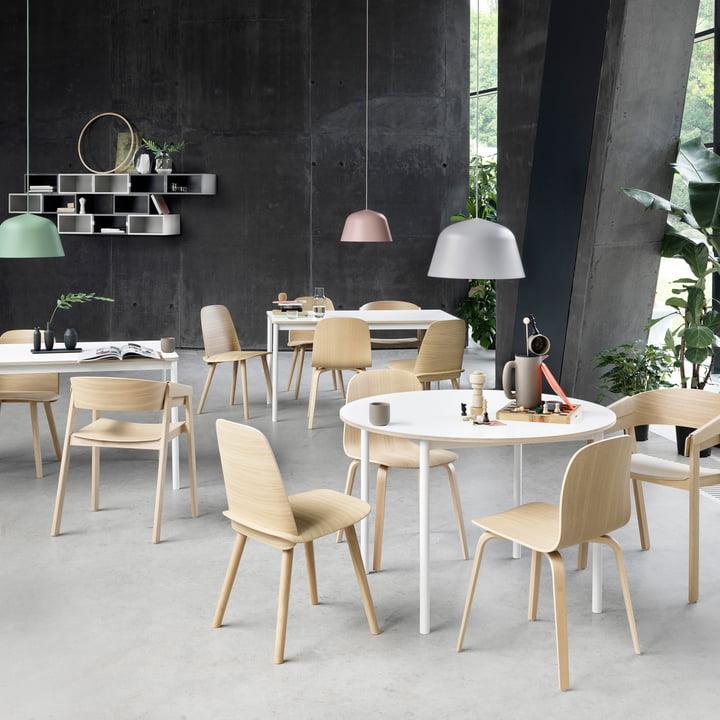 Muuto Base Esstisch mit Stühlen
