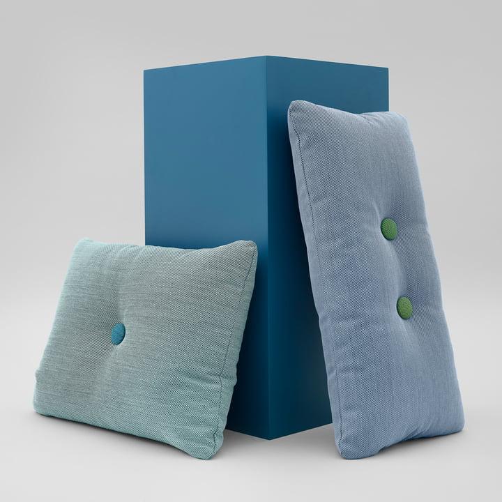 Hay - Dot Kissen mit Steelcut Trio Bezug in Blau