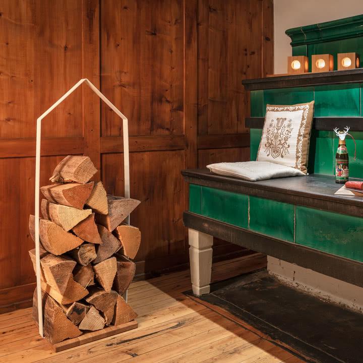 holzh tte f r kaminholz von design im dorf. Black Bedroom Furniture Sets. Home Design Ideas