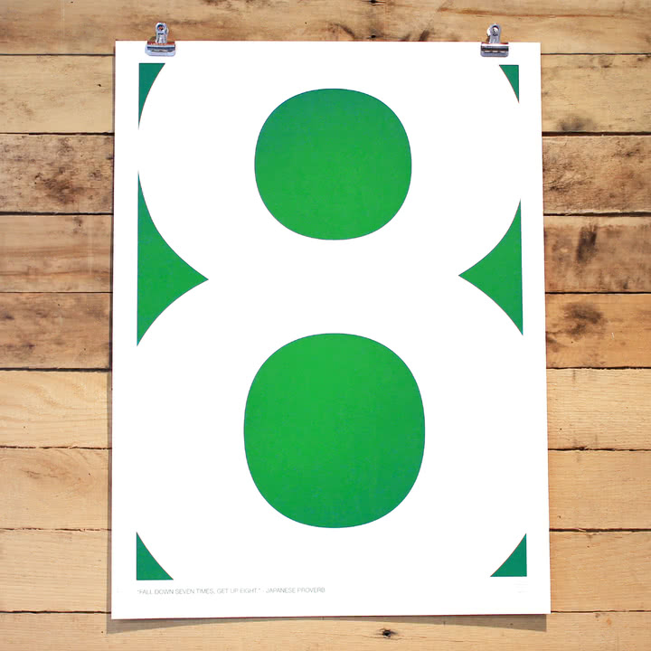Srcreen Printed Swiss Inspired Number Series Eight von Holstee