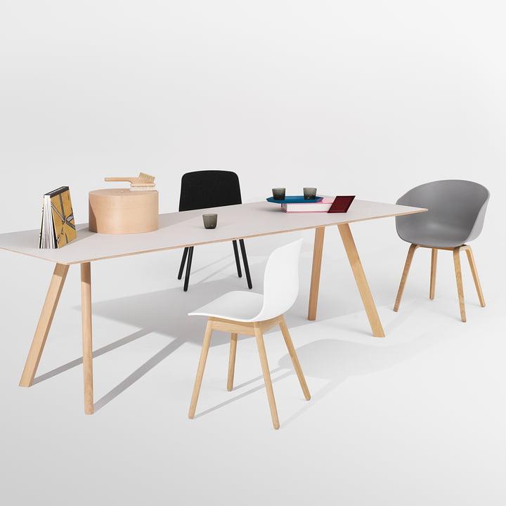 Hay - Copenhague CPH30 Esstisch / About A Chair AAC12, AAC22