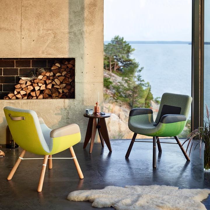 Vitra - Tabouret Solvay Hocker & East River Chair