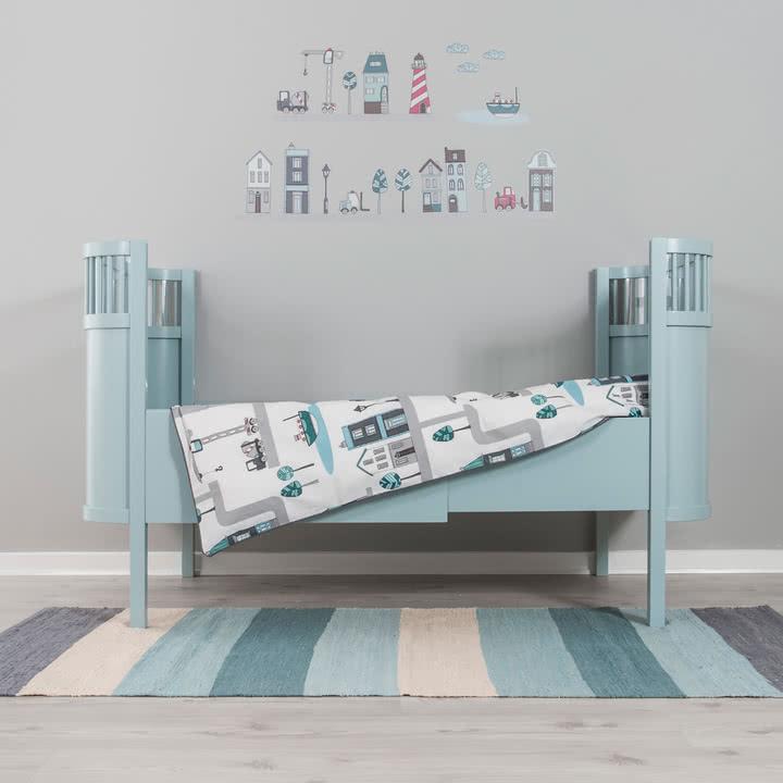 Kili Kinderbett von Sebra in Hellblau