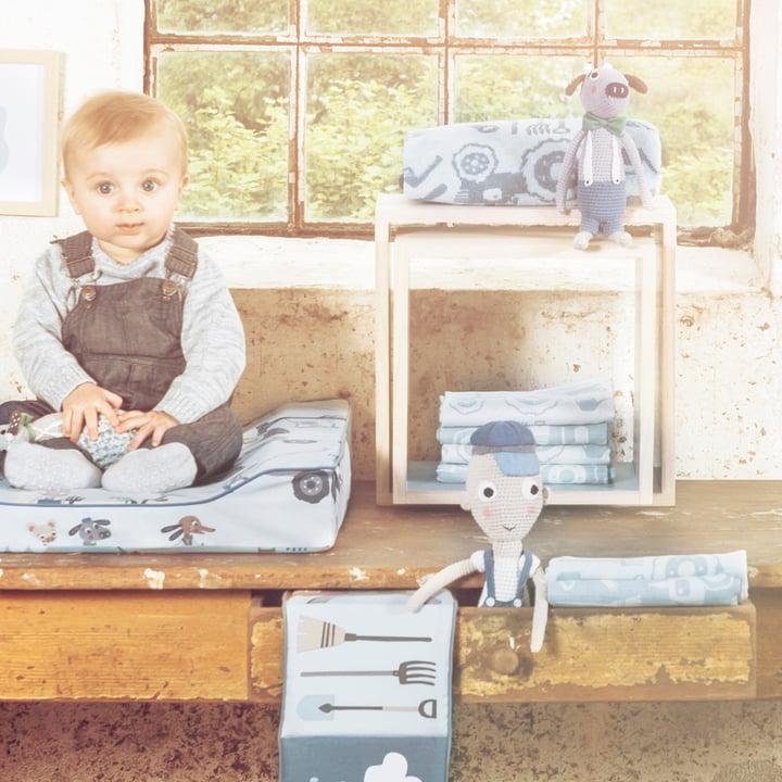 Spucktuch und Babydecke aus der Farm Kollektion