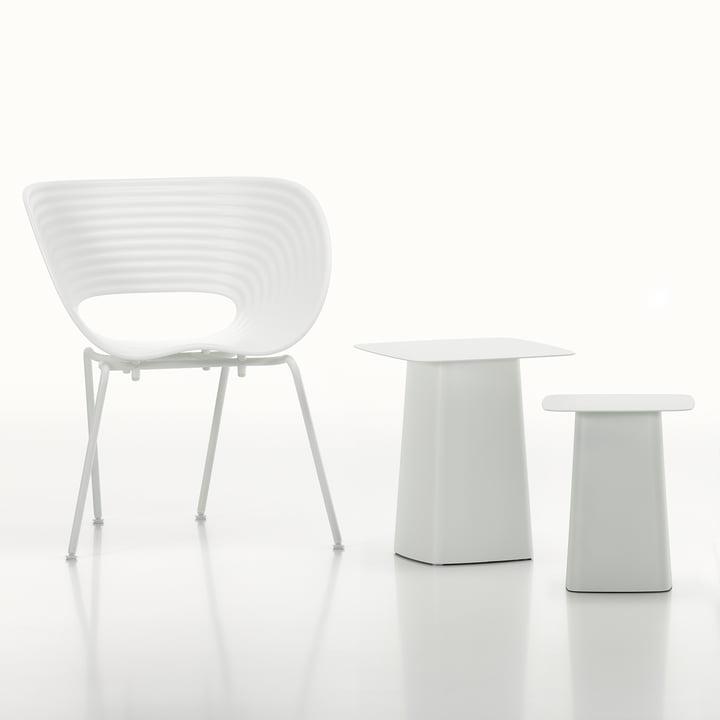 Vitra - White Collection - Metal Side Table / Tom Van Stuhl, elfenbein / weiß