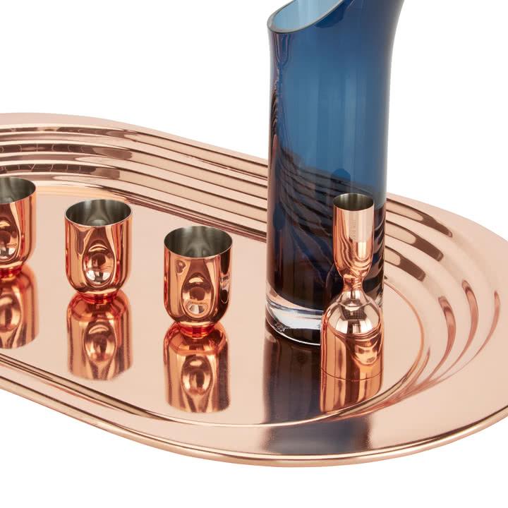 Plum Kollektion aus Kupfer und Glas