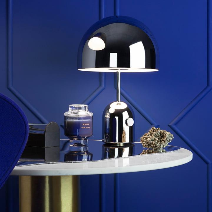 Bell Tischleuchte mit Scent Duftkerze von Tom Dixon