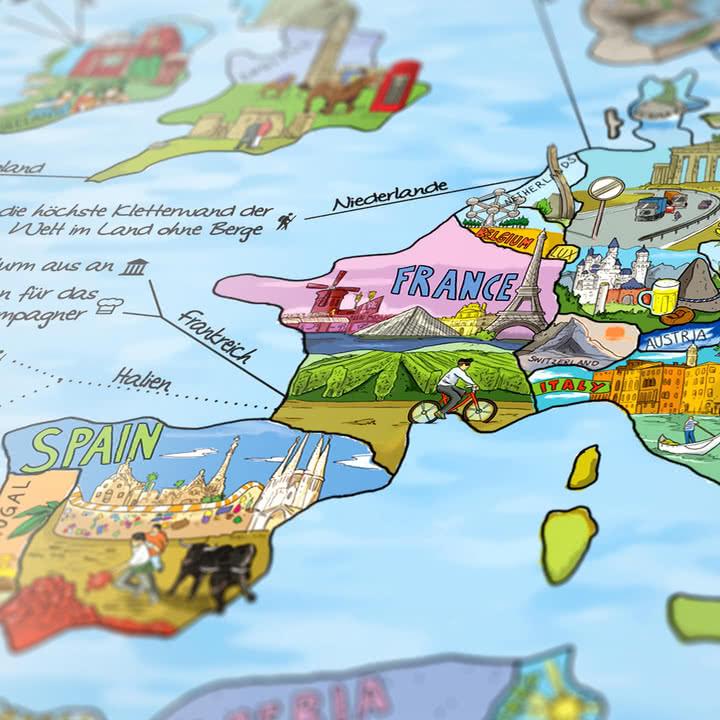 Travelmap/Bucketlist von Awesome Maps
