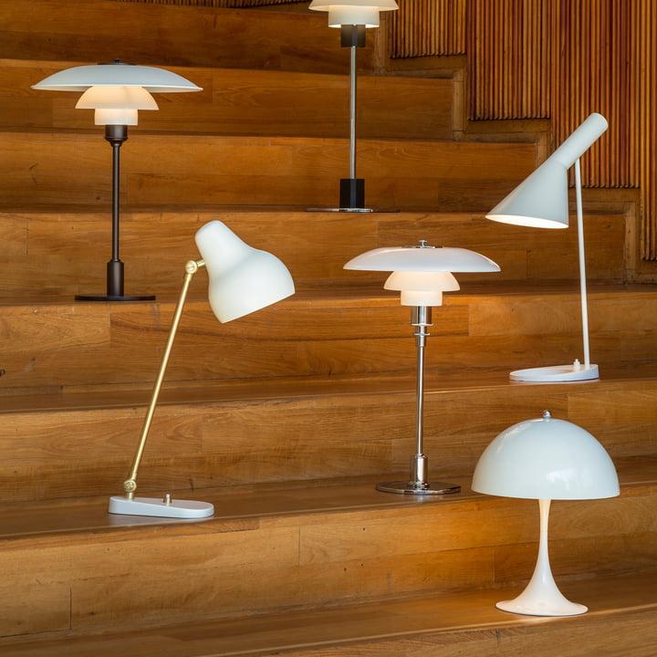 Weiße Design-Tischlampen von Louis Poulsen