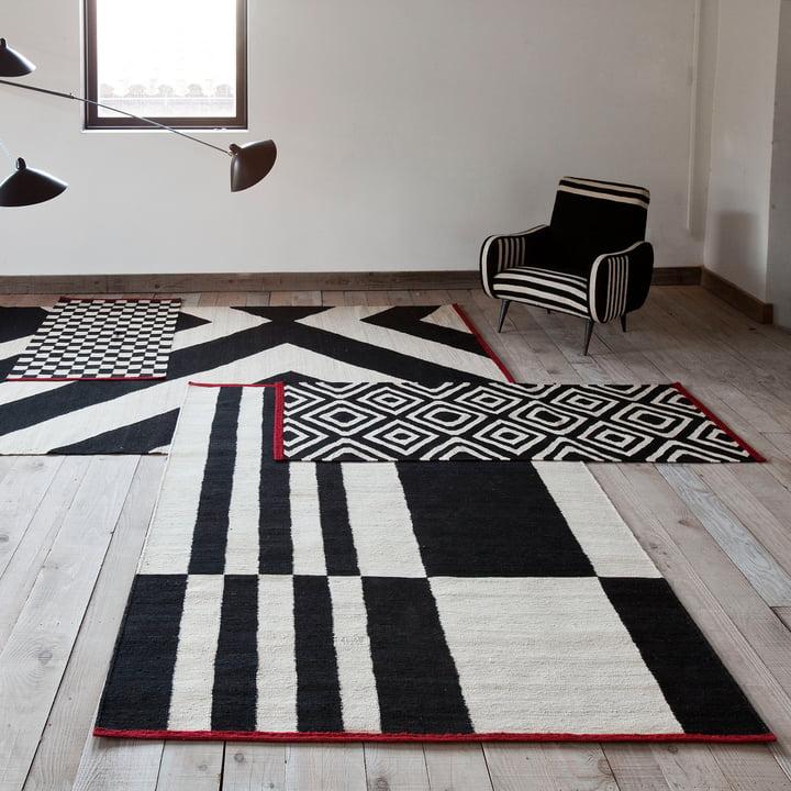 Mélange Teppiche Pattern, Stripes und Zoom