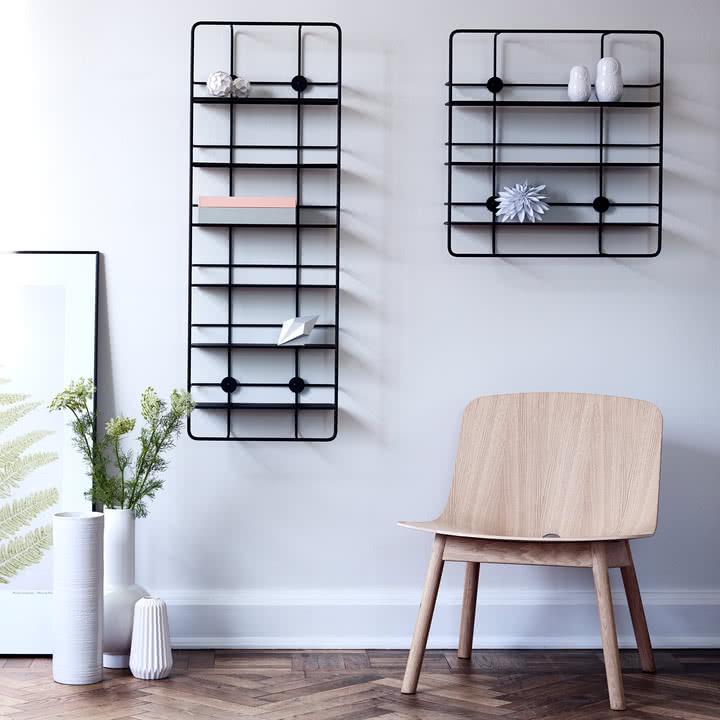 Coupé Shelf von Woud in Schwarz