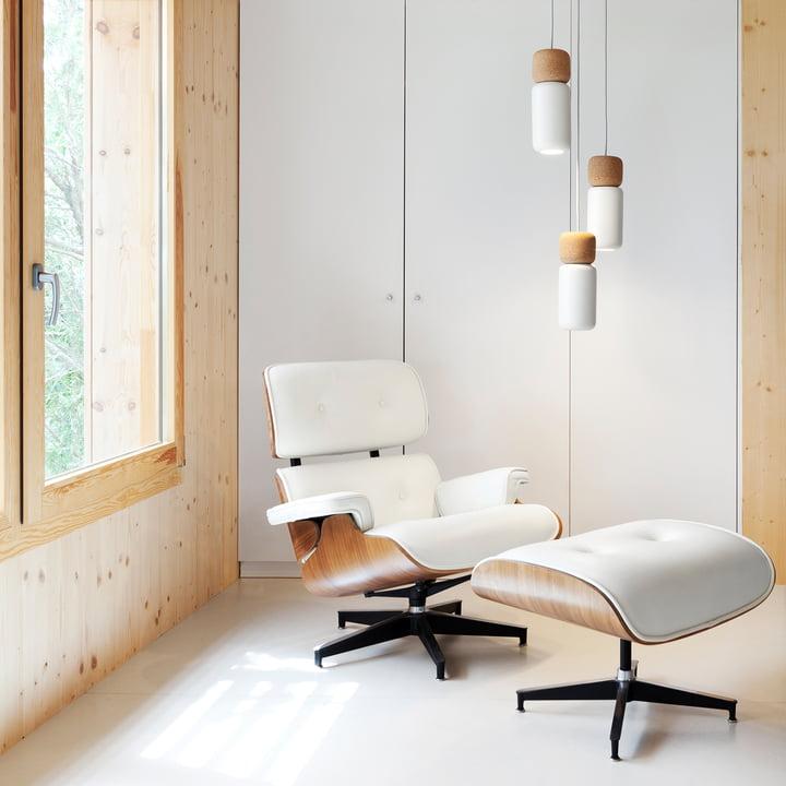 Pila Pendelleuchte mit Lounge Chair & Ottoman