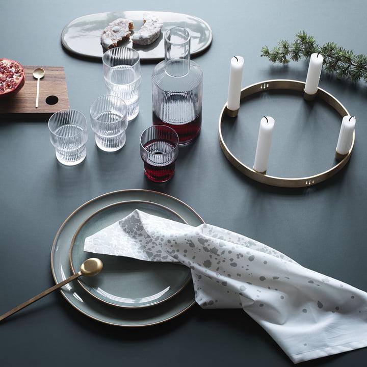 kerzenhalter circle von ferm living connox. Black Bedroom Furniture Sets. Home Design Ideas