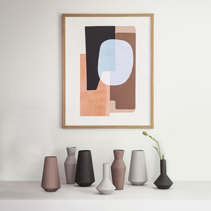 Abstraction Poster und Sculpt Vasen