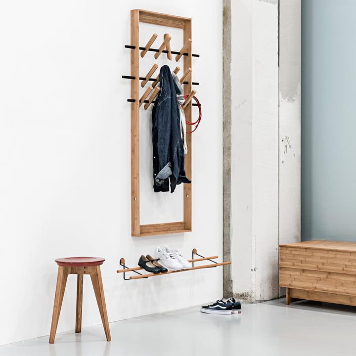 Shoe Rack, Button Stool und Coat Frame von We Do Wood