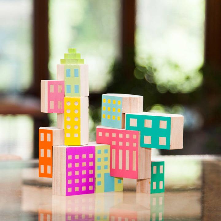 Blockitecture Spielzeug Holz-Architektur Deco von Areaware