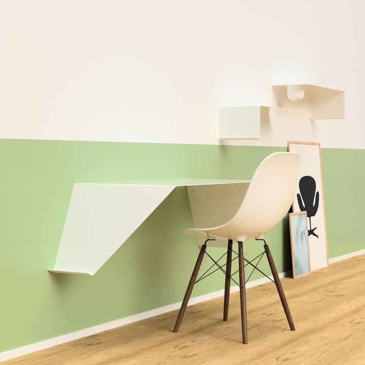 Desk01 von Nichba Design in Weiß