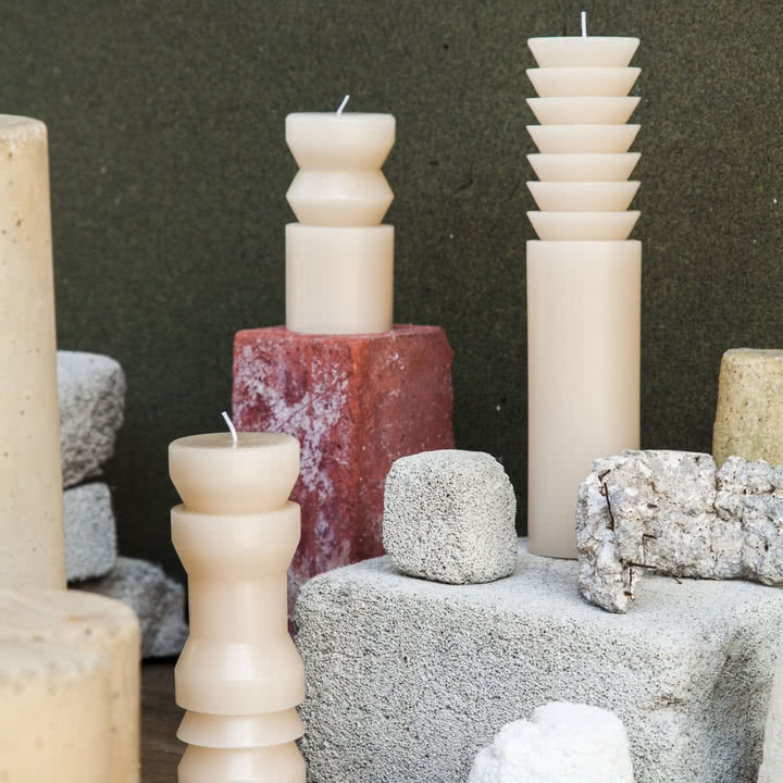 Die Vielfalt der Totem Kerzen von Areaware